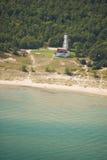 Casa ligera de la playa de la punta Fotografía de archivo libre de regalías