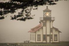 Casa ligera Mendocino, California de Cabrillo del punto Fotos de archivo
