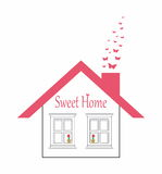 Casa linda - hogar dulce Fotos de archivo libres de regalías
