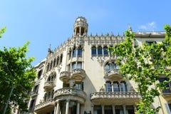 Casa Lleó Morera, Barcelona, Spain Stock Image