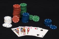 Casa llena del póker Fotos de archivo libres de regalías