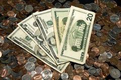 Casa llena del póker del dinero Imagenes de archivo