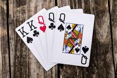 Casa llena - reyes y póker del Queens foto de archivo libre de regalías