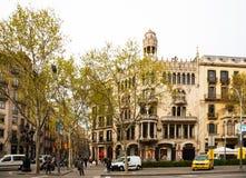 Casa Lleo Morera Passeig de Gracia Στοκ Φωτογραφία