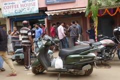 Casa local do café do estilo em Bengaluru Bangalore, Índia Imagem de Stock Royalty Free