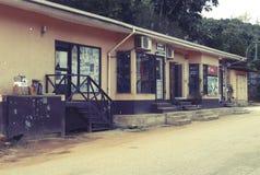 Casa local en la isla del La Digue Fotografía de archivo