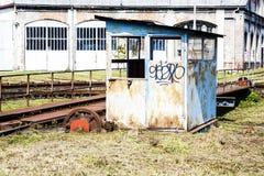 Casa locomotora de las placas giratorias fotos de archivo libres de regalías