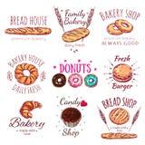Casa Logo Set do pão ilustração do vetor