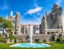 Casa Loma castle in Toronto, Canada. Famous Casa Loma castle in Toronto, Canada royalty free stock photos