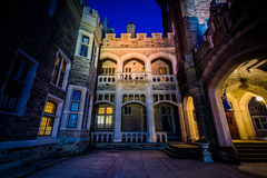 Casa LOMA nachts, in der Stadtmitte Toronto, Ontario Lizenzfreies Stockfoto
