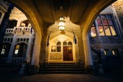 Casa Loma på natten, i midtownen Toronto, Ontario Arkivbilder