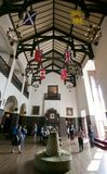 Casa Loma - pasillo de las banderas Fotografía de archivo libre de regalías