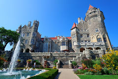 Casa Loma. In Toronto with blue sky stock images