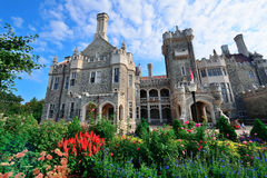 Casa Loma. TORONTO, CANADA - JULY 3: Casa Loma exterior view on July 3, 2012 in Toronto, Canada. Built 1911-1914 and was Established as museum 1937, it was the stock photos
