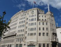 Casa Londres de la difusión de la BBC Imagen de archivo libre de regalías