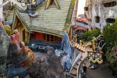 Casa louca da casa de hóspedes, cidade do Lat da Dinamarca, marco Vietname Imagens de Stock