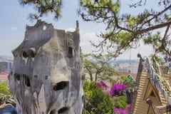 Casa louca na cidade de Dalat Imagens de Stock
