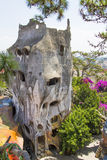 Casa louca na cidade de Dalat Fotos de Stock Royalty Free