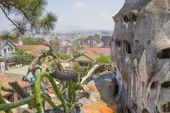 Casa louca na cidade de Dalat Fotografia de Stock Royalty Free