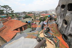 Casa louca no Lat da Dinamarca, Vietname Imagem de Stock