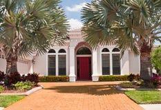 Casa lussuosa bianca fotografia stock