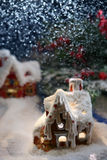 Casa mágica de la nieve Fotos de archivo