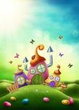 Casa magica di pasqua illustrazione vettoriale