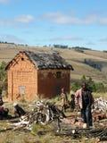 Casa malgache de la montaña foto de archivo libre de regalías