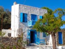 Casa maravillosa en Grecia fotos de archivo