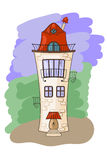 Casa medieval dos desenhos animados Fotos de Stock