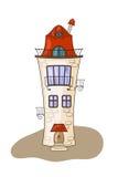 Casa medieval dos desenhos animados bonitos Fotos de Stock Royalty Free