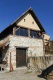 Casa medieval en la fortaleza de Rasnov foto de archivo libre de regalías