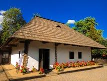 A casa memorável Ion Creanga, Humulesti, neamt de Targu, Romênia foto de stock
