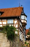 casa Metade-suportada em Wimpfen mau foto de stock royalty free