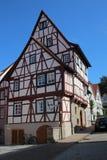 Casa Metade-suportada em Wimpfen mau, Alemanha imagens de stock