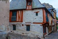 Casa metade-suportada medieval em Vitré, Brittany, França imagem de stock