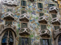 Casa Batllo, Barcelona, Spain. View of the facade of the famous modernist building by Gaudi in Barcelona, Catalonia, Spain Stock Photography