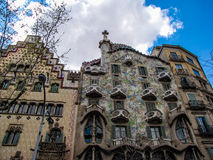 Casa Batllo, Barcelona, Spain. View of the facade of the famous modernist building by Gaudi in Barcelona, Catalonia, Spain Stock Photo