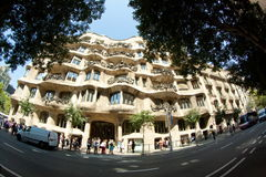 Casa Mila (La Pedrera) Royalty Free Stock Photo