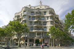 Casa Mil� Barcelona - La Pedrera, by Antoni Gaudi, built between 1905-1911, Barcelona, Spain Stock Photography