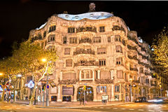 Casa Mila, also known as La Pedrera, barcelona, Sp Stock Photo