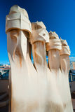 Casa Mila, also known as La Pedrera, barcelona, Sp Royalty Free Stock Image