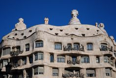 Casa mila by antonio gaudi barcelona Royalty Free Stock Photography