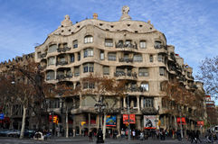 Casa Mila in Barcelona Stock Photos