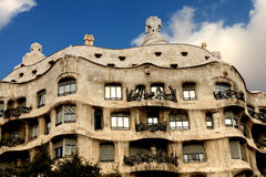 Casa Mila. Barcelona Stock Photo
