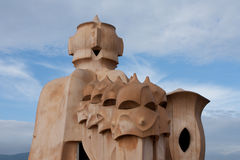 Casa Mila in Barcelona Royalty Free Stock Image