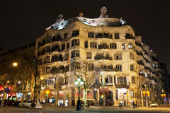Casa Mila, Barcelona Royalty Free Stock Images