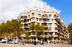 Casa Mila in Barcelona, Catalonia Stock Photography