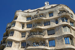 Casa Mila in Barcelona. Horizontally. Stock Image