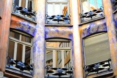 Casa Mila in Barcelona. Interior of Casa Mila or Pedrera in Barcelona Stock Image
